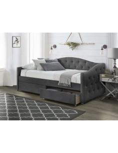 Conrad 2 Drawer Bedside  Black & Walnut